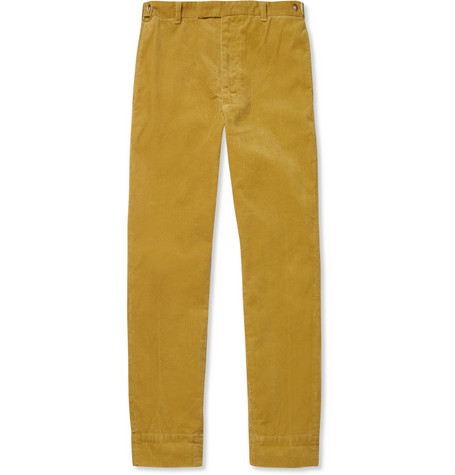 Beams Plus Cropped Washed-Corduroy Trousers