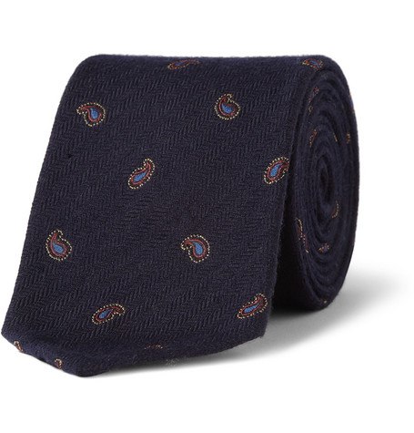 Beams Plus Paisley Wool and Silk-Jacquard Tie