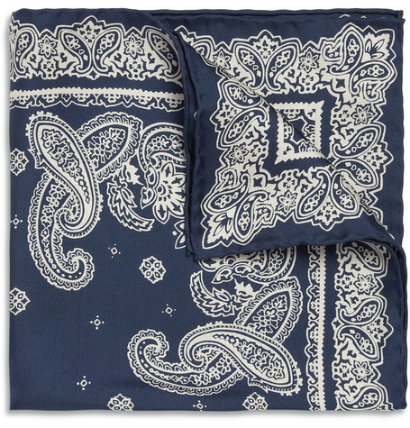 Beams Plus Paisley-Print Silk Pocket Square