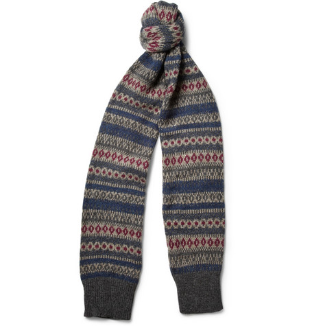 Beams Plus Fair Isle Wool Scarf
