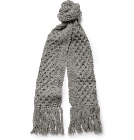 Beams Plus Textured-Knit Wool Scarf
