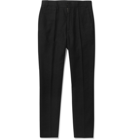 McQ Alexander McQueen Tapered-leg Wool and Linen-Blend Trousers