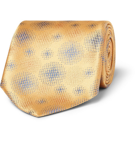 Charvet Dot-Patterned Woven-Silk Tie