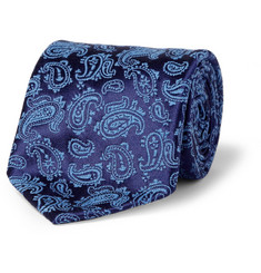 Charvet Paisley Silk and Wool-blend Tie