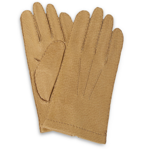 Merola Gloves Textured-Leather Gloves