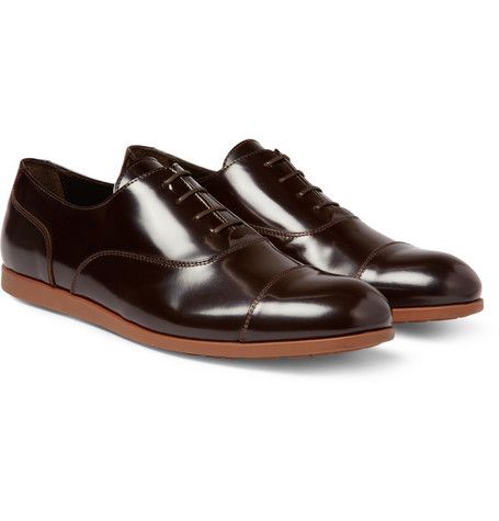 Armando Cabral Rubber-Sole Leather Oxford Shoes