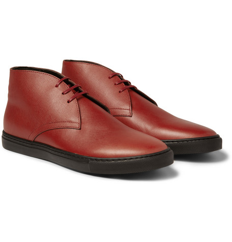 Armando Cabral Textured-Leather Chukka Boots