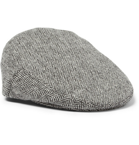 Lock & Co Hatters Herringbone Wool Flat Cap