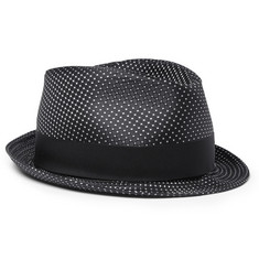 Lock & Co Hatters Patterned Satin Trilby Hat