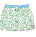 Pink House Mustique Mid-Length Fern-Print Swim Shorts