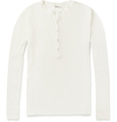 Schiesser Ribbed Cotton Henley T-Shirt