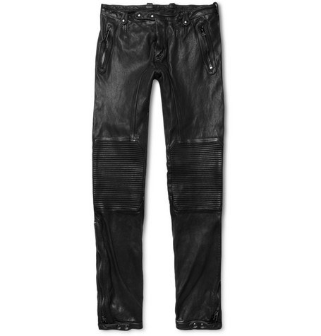 Belstaff Telford Slim-Fit Leather Biker Trousers