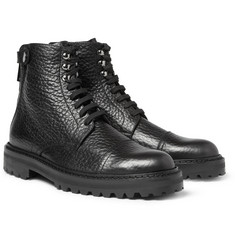 Belstaff Barrington Pebble-Grain Leather Boots
