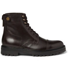 Belstaff Barrington Rubber-Sole Leather Boots