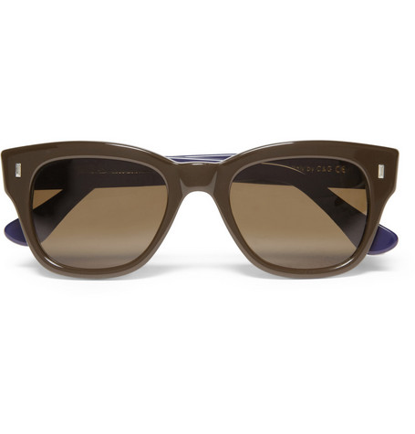 Cutler and Gross Two-Tone D-Frame Acetate Sunglasses