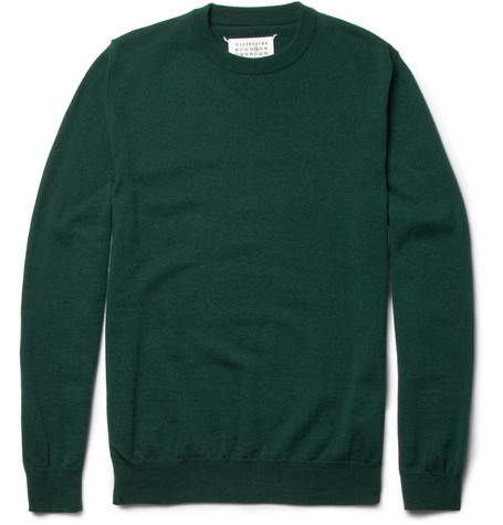 Maison Martin Margiela Elbow-Patch Wool Sweater