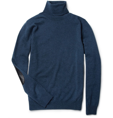 Maison Martin Margiela Elbow-Patch Wool Rollneck Sweater