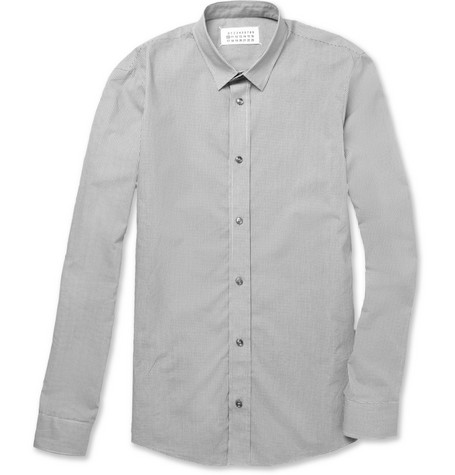 Maison Martin Margiela Slim-Fit Micro-Check Cotton Shirt