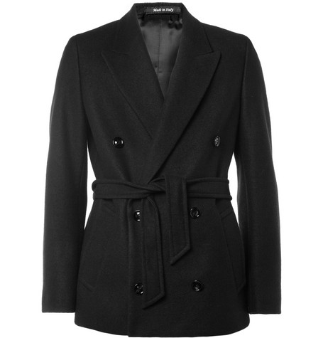 Maison Martin Margiela Double-Breasted Textured-Wool Blazer
