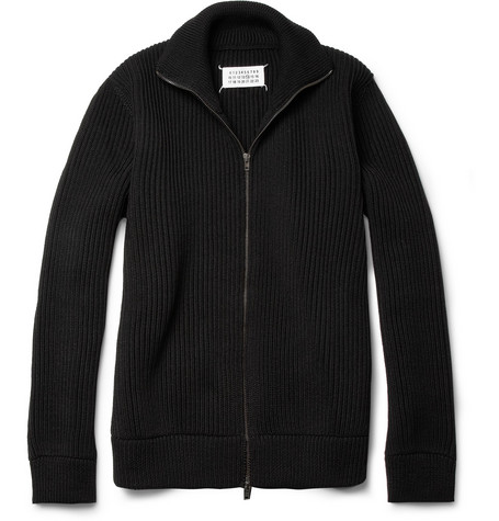 Maison Martin Margiela Trucker Zip-Up Wool Cardigan