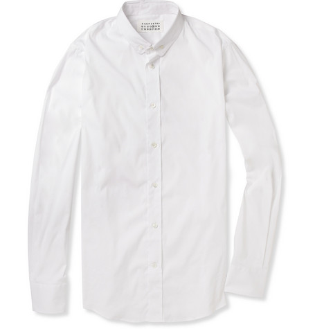 Maison Martin Margiela Slim-Fit Stretch Cotton-Blend Shirt