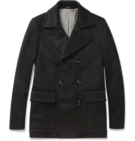 Maison Martin Margiela Slim-Fit Wool-Blend Peacoat
