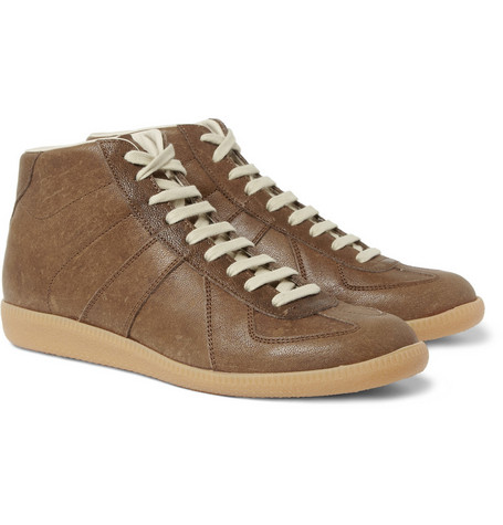 Maison Martin Margiela Panelled-Leather High Top Sneakers