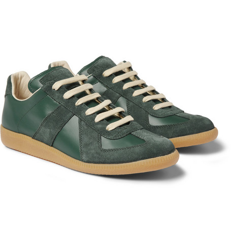 Maison Martin Margiela Suede and Leather Sneakers