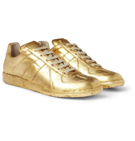 Maison Martin Margiela Replica Metallic Leather Sneakers