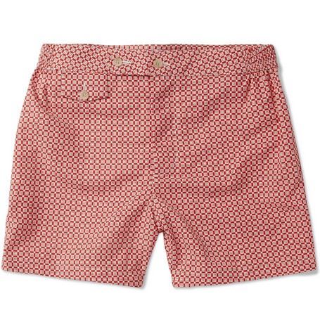 Chucs Long-Length Printed Swim Shorts