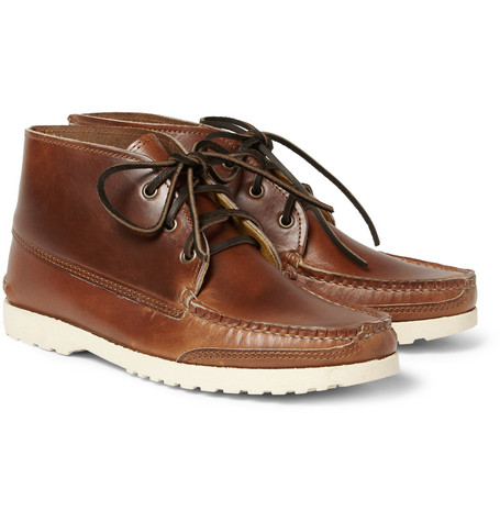 Quoddy Kennebec Leather Chukka Boots