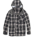 White Mountaineering Waterproof Wool-Blend Check Jacket