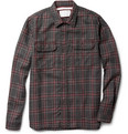 White Mountaineering Glen Plaid Wool Shirt