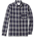 White Mountaineering Prince of Wales Check Plaid Wool Shirt
