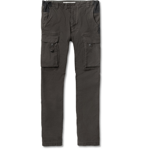 White Mountaineering Two-Tone Cotton Whipcord Cargo Trousers