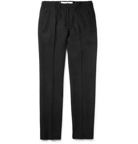 White Mountaineering Saxony Tapered-Leg Wool Trousers