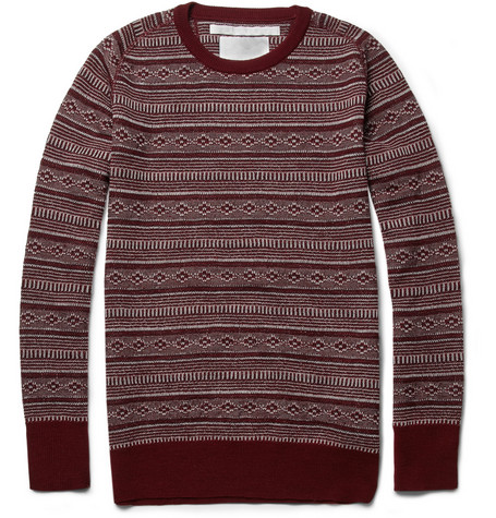 White Mountaineering Fair Isle Wool Sweater