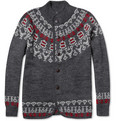 White Mountaineering Jacquard Wool and Alpaca-Blend Cardigan