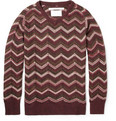 White Mountaineering Herringbone-Patterned Wool-Blend Sweater