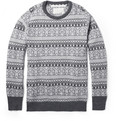 White Mountaineering Fair Isle Wool-Blend Sweater