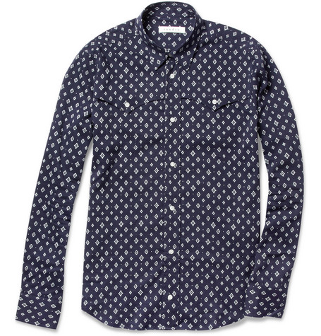 Sandro Printed Cotton-Blend Shirt