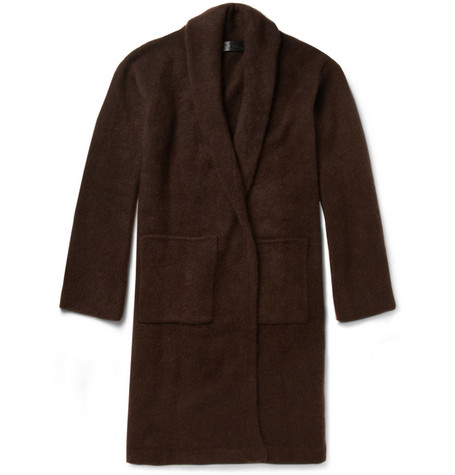 The Elder Statesman Oversized Belted Cashmere Cardigan