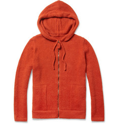 The Elder Statesman Tyro Baby Alpaca Wool Zipped Hoodie