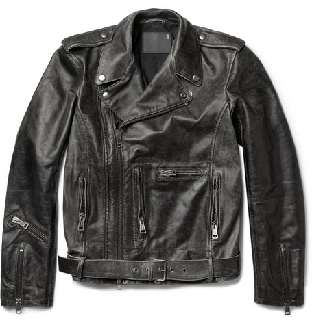R13 Moto Washed-Leather Jacket