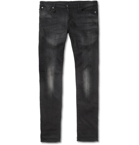 R13 Slim-Fit Washed-Denim Jeans
