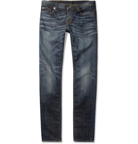 R13 Slim-Fit Distressed Denim Jeans