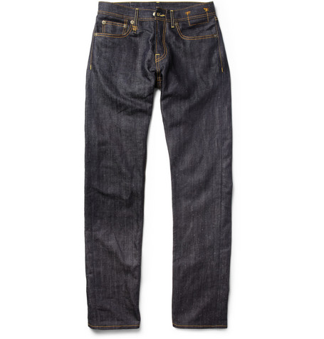 R13 Straight-Leg Slub Dry-Denim Jeans