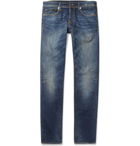 R13 Distressed Slim-Fit Jeans