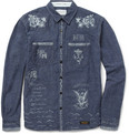 Neighborhood Highliner Tattoo-Print Chambray Shirt
