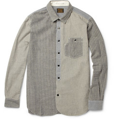 Neighborhood Labour Striped Brushed Cotton Oxford Shirt
